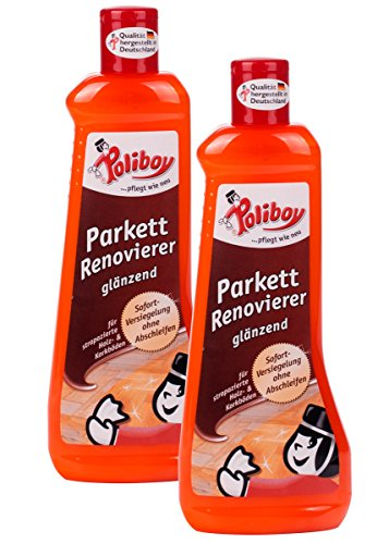 billig poliboy parkett renovierer gl nzend 2 x 500 ml. Black Bedroom Furniture Sets. Home Design Ideas