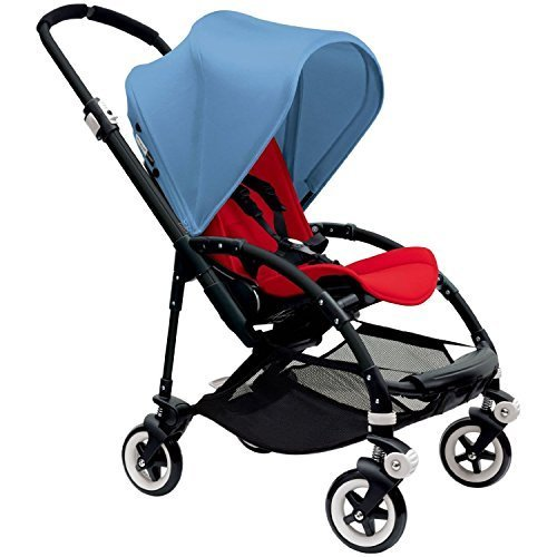 bugaboo-bee-3-black-frame-stroller-with-red-seat-ice-blue-by-bugaboo
