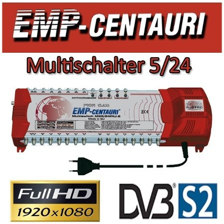 EMP MS5/24-PIU-6 - Commutatore 5/24 con alimentatore di rete