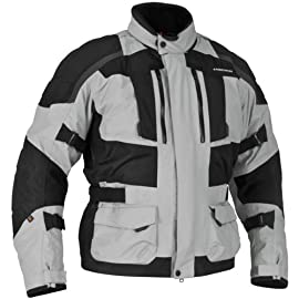 Firstgear Kathmandu Jacket - Black/Dark Gray - Large - 515555