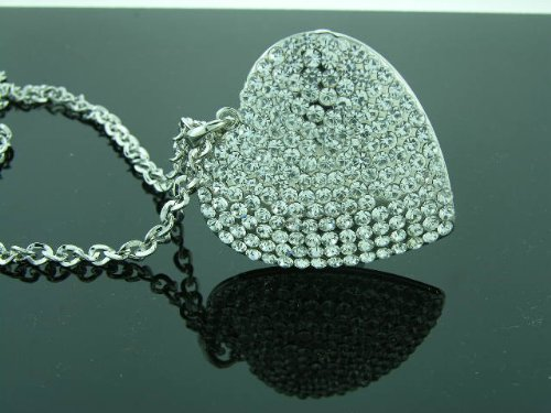 Iced Out Diamante' Heart Necklace