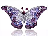 Empress Monarch Purple Winged Butterfly Swarovski Crystal Rhinestone Pin Brooch
