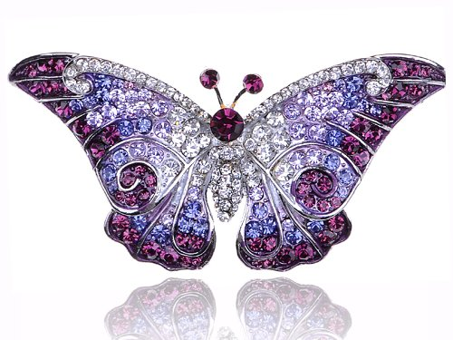 Empress Monarch Purple Winged Butterfly Swarovski
