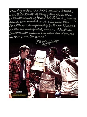 Steiner Sports Memorabilia Bob Knight Autographed Undefeated Season Story Photo