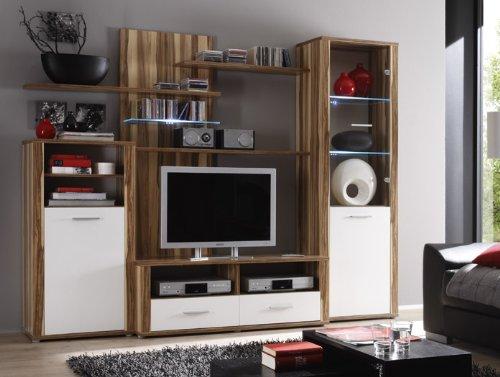 wohnzimmer moderne wohnwand vitrine anbauwand wohnzimmer m bel baltimore wei hera. Black Bedroom Furniture Sets. Home Design Ideas