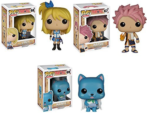 Fairy Tail Lucy, Natsu and Happy Pop! Vinyl Figures Set of 3 (Lucy Figure compare prices)