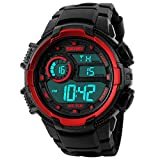 Happy Cherry Outdoor Waterproof Boys Girls Cool Sport LED Digital Alarm Stopwatch Chronograph Wrist Watch