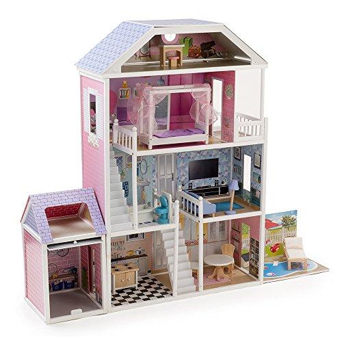 Mamakiddies casa delle bambole a 4 piani in legno for Casa a 4 piani