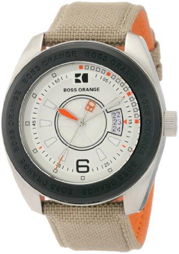 Hugo Boss Men's 1512547 HO2106 BOSS Orange Beige Canvas Strap Watch