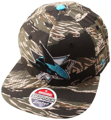 NHL San Jose Sharks Urban Jungle Hat, Camo/Tiger at Amazon.com