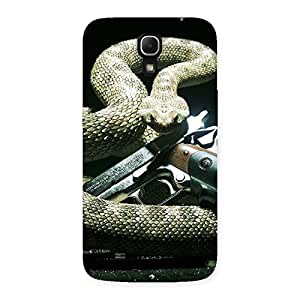 Gun And Rattle Snake Back Case Cover for Galaxy Mega 6.3
