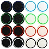 Pack Of 16pcs Thumb Grip Thumbstick Noctilucent Sets For Ps2, Ps3, Ps4, Xbox 360, Xbox One Controller