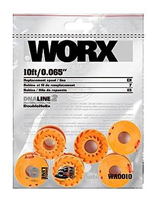 Worx OEM WA0010 10-Foot Grass Trimmer Edger Spool Line 6 Pack WG150 WG151 WG152
