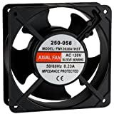 Muffin Style Axial Cooling Fan 120 VAC 120 x 120 x 38mm 100 CFM