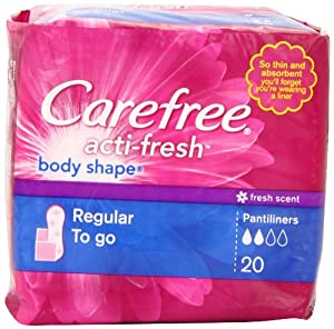 CAREFREE® ACTI-FRESH® Pantiliners Regular To Go Scented 18/20ct