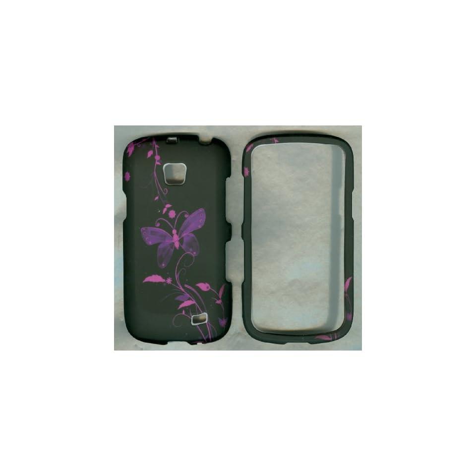 Black Purple Butterfly Samsung Galaxy Proclaim Sch s720c Case Cover Hard Phon