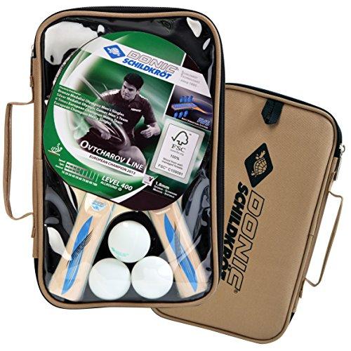 Donic-Schildkröt Tischtennis Set Blau Series 400 Im Carrybag 2x Schläger und 3 Bälle, natur, 788657