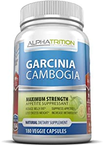 Garcinia Cambogia Extract Premium 3,000mg. Maximum Strength Appetite Suppressant & Fat Burner With HCA That Works For Men And Women. 180 Veggie Capsules. As Seen On TV. by Alphatrition