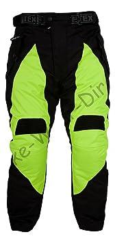 jaune noir blindés Pantalons moto étanches