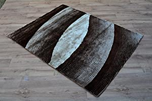 "Shaggy Rug Beige 963 Plain 5cm Thick Soft Pile 200cm x 290cm (6ft 7"" x 9ft 6"") Modern 100% Berclon Twist Fibre Non-Shed Polyproylene Heat Set - AVAILABLE IN 6 SIZES by Quality Linen and Towels by Quality Linen and Towels"