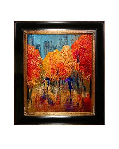 Justyna Kopania Autumn (Stroll) Framed Giclée on Canvas