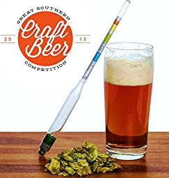 ★ LIFETIME WARRANTY ★ Triple Scale Wine & Beer Hydrometer in Hardcase By BrewSomm® - Specifc Gravity ABV Alcohol Tester- for Measureing Wine, Beer, Mead and Kombucha