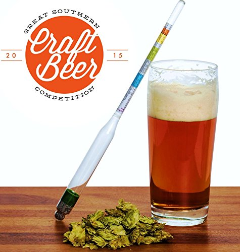 ★ LIFETIME WARRANTY ★ Triple Scale Wine & Beer Hydrometer in Hardcase By BrewSomm® - Specifc Gravity ABV Alcohol Tester- for Measureing Wine, Beer, Mead and Kombucha (Alcohol Beer compare prices)