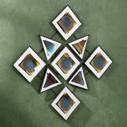 SEI Geometric Mystique Wall Sculpture