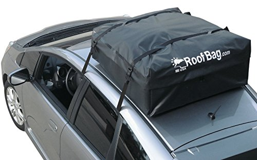 RoofBag 100% Waterproof Carrier Bundle: Includes Protective Roof Mat + Storage Bag for storing + Heavy Duty Straps + Cross Country Soft Car Top Carrier - Made in USA (Roof Rack Cargo Bag compare prices)
