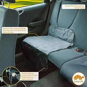 DIADO 30032.71741 - Base protectora para asiento del coche (52 x 90cm), color negro y gris