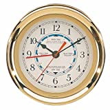 7.5 Captain Tide Clock with Lacquer Coating Nautical Tropical Home Decor