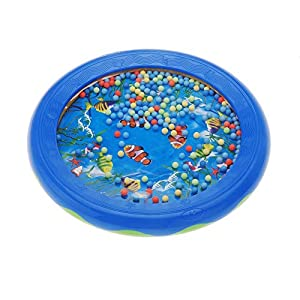 WANGSAURA Ocean Wave Bead Drum Gentle Sea Sound Musical Educational Toy Tool for Baby Kid Child