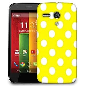 Snoogg Yellow Polka Dot Designer Protective Phone Back Case Cover For Motorola G / Moto G