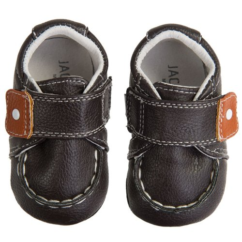 Jack & Lily my shoes toddler contrast snap, brown