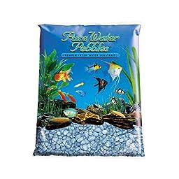 Pure Water Pebbles Aquarium Gravel, 25-Pound, Pastel Blue Frost