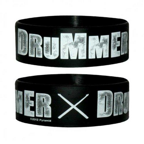 Fun-Drummer-Silikon-Armband-fr-Sammler-Wristbands-Breite-24mm-Durchmesser-65mm-Dicke-1mm