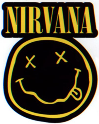 Licenses Products Nirvana Diecut Smiley Logo Sticker