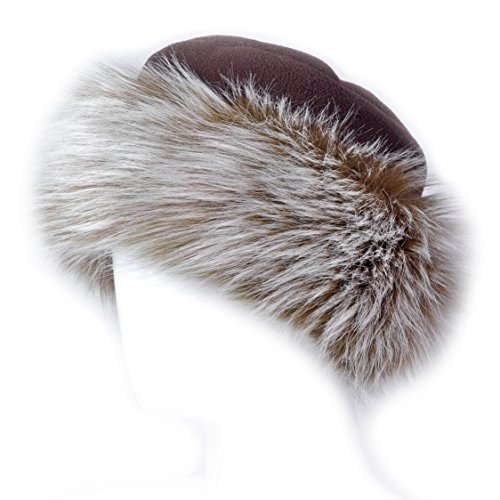 bc6e3e65ad7 Futrzane Faux Fake Fur Hat with Fleece Russian Cossack Winter Ladies Women  (M