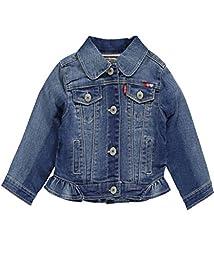Levi\'s Baby Girls\' Dianna Denim Jacket, Iced Blue, 12 Months
