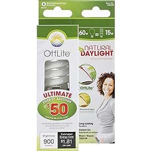 OttLite 15ED12R 15w Edison HD CFL Swirl Bulb