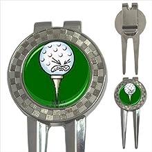 3 in 1 Golf Ball Marker Divot Tool Cartoon Golf Ball