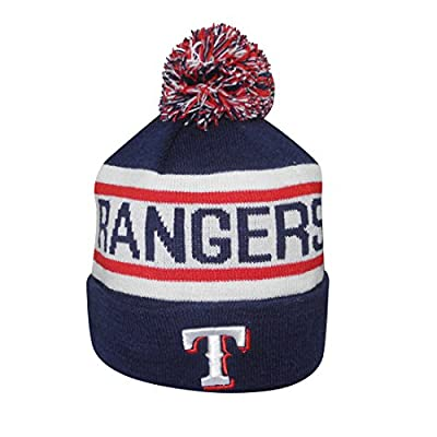 Adult MLB - TEXAS RANGERS Winter Hat / Beanie with Removable Pom Pom