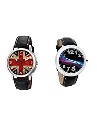 Gledati Men's Multicolor Dial And Foster's Women's Black Dial Analog Watch Combo_ADCOMB0001885