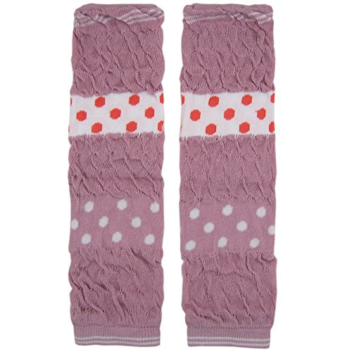 New Baggy Soft Cotton Baby Knee Pads Leg Warmer/ Leggings Pink Braid 8061246