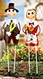 Collections Etc - Pilgrim Stakes Thanksgiving Outdoor Decorations Girl Pilgrim