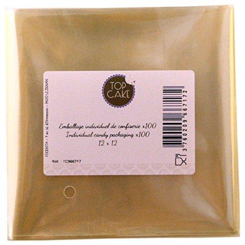 Top cake - Emballages de confiserie x 100 - Carré 12