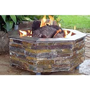Firescapes the virginian octagonal propane for Amazon prime fire pit
