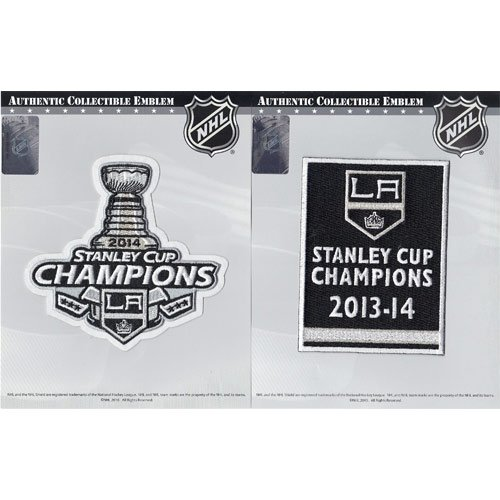2014 NHL Stanley Cup Final Champions & Championship Banner Jersey Official Patch Los Angeles Kings (2014 Stanley Cup Champions Patch compare prices)