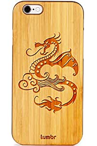 Lumbr Pure Wooden Back Cover for iPhone 4/4s (White)