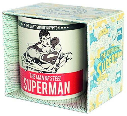 Superman mugbsm19Tazza Da Caffè, Ceramica, Bianco, 8cm